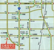 ◎白山市森島の家 地図
