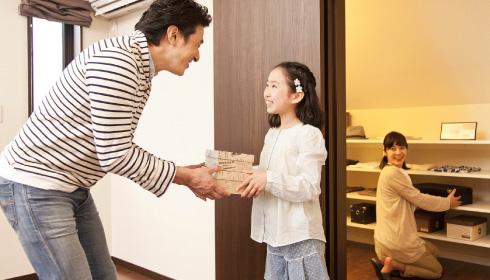 家族みんながきれいに片付けられる収納設計