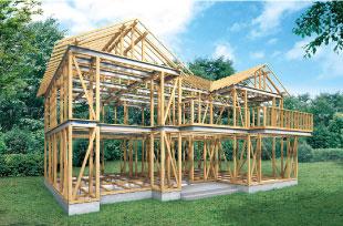 土台にも柱にも木を使った、国に認定された木造住宅です。